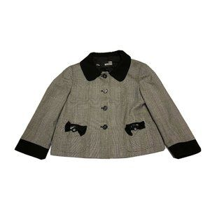 Love Moschino Virgin Wool Blazer Black Jacket sz 8